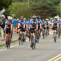 Team Elizabeth rides in the 2017 Pan Mass Challenge