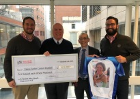 Elizabeth Alling Sewall Endowment for Breast Cancer Research Presents Check to Dana Farber Cancer Institute's Dr. Eric Winer